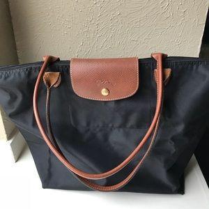 Longchamp Le Pliage Shopping tote black handbag